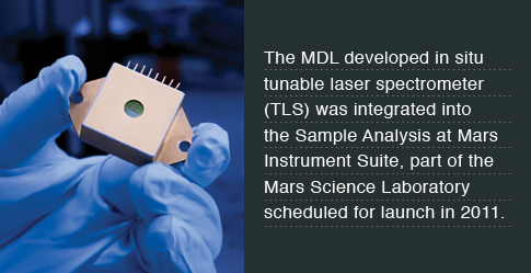 The Sample Analysis at Mars instrument suite will weigh about 83 lbs (38 kg), and make up about half the science payload of the Mars Science Laboratory mission to search for carbon-based compounds associated with life.
